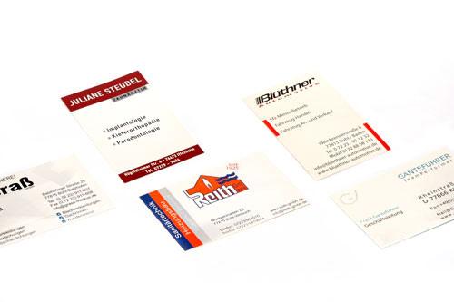 Gestaltung und Lieferung von Visitenkarten