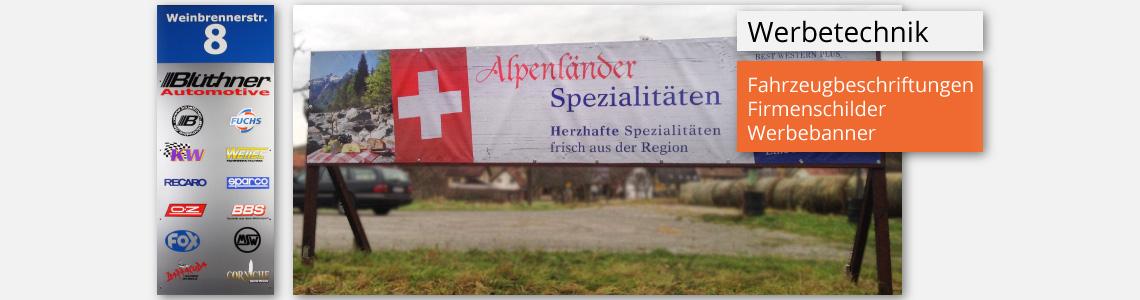 Banner für Außenwerbung
